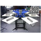 Silk Bildschirm-Drucker-China-Fertigung des Shirt-6-Color