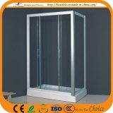 Nova tela de banho de vidro de design simples (ADL-8019B)
