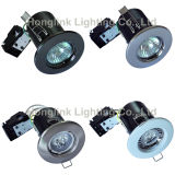 Ceiling enfoncé GU10 Halogen ou DEL Fire Rated Downlight