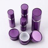 자주색 Set9 PP 아크릴 크림 단지 화장품 포장을%s 답답한 로션 병 (PPC-CPS-031)