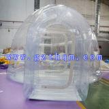 Tente gonflable gonflable de la bulle transparente extérieure Tent/TPU de pelouse