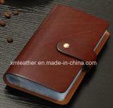 Бумажник владельца карточки способа кожаный, случай карточки удостоверения личности