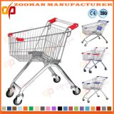 Kundenspezifische Draht-Metallsupermarkt-Einkaufen-Laufkatze-Karre auf Rädern (Zht188)