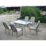 로비 Dining Table와 8 Chairs 정원 Outdoor Furniture (FS-4020+4207)