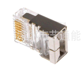 Kat. 5e de verguld Beschermde Stop Connectors/8p8c van het Kristal Head/RJ45 van het Netwerk