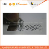 Etiqueta feita sob encomenda do holograma da impressão da etiqueta do vácuo da prata da segurança para Anti-Falsificar
