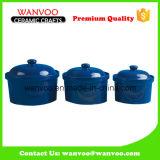 Tarro de almacenamiento de cerámica de color personalizado para tarro de especias para alimentos