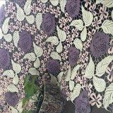 Tela química do laço do poliéster de 3 cores para o vestido e o vestuário
