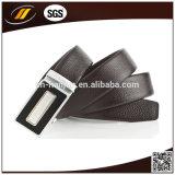 Soem-Qualitäts-Oberseite-Leder-Schwarz-Mann-Riemen der automatischen Faltenbildung-Riemen-Männer (HJ3102)