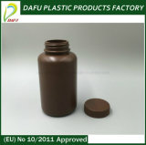 Бутылка пилюльки микстуры круглой формы HDPE 200ml пластичная