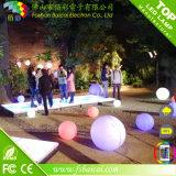 Boule plate décorative colorée rechargeable sans fil imperméable à l'eau de LED