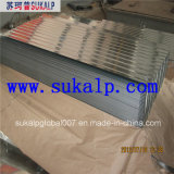 24 hojas de acero acanaladas del material para techos del calibrador
