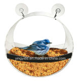 Alimentador circular original feito sob encomenda do pássaro do indicador - casa acrílica desobstruída do pássaro para pássaros selvagens pequenos