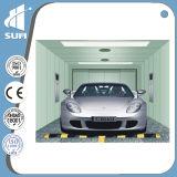 Ascenseur de véhicule de la vitesse 0.5m/S avec la cabine en acier peinte