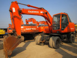 Alta qualidade da máquina escavadora usada da roda de Daewoo 130W-5