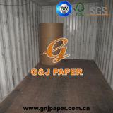 Papier d'art lustré de la taille C2s de la pâte de bois A2 en feuille