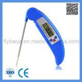 De digitale Thermometer van het Voedsel met de Opvouwbare Thermometer van het Vlees van de Sonde voor het Koken BBQ van de Keuken het Blauw van de Thermometer