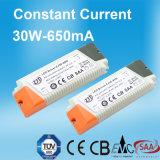 セリウム公認30W 650mAの一定した流れLEDの電源