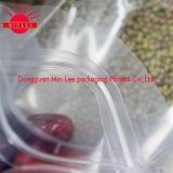 De plastic Zak van de Bodem van de Verpakking van het Voedsel van de Vierling Vlakke met Ritssluiting