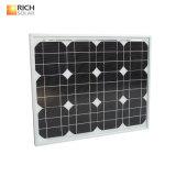 30W Monocrystalline 태양 전지판 소형 태양 모듈 Monocrystalline 태양 전지