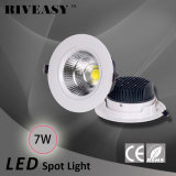 Ce RoHS Bis светильника Downlight фары 7W СИД светлый