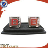 Горячее Sales New Style Plating Nickel Zinc Alloy 3D Metal Cufflink