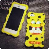 Caja amarilla divertida del teléfono del silicón de Spongebob del PUNTO para la galaxia A3 A5 A7 E5 E7 (XSR-024) de Samsung