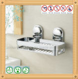Mensola d'angolo cromata hardware della stanza da bagno con la tazza di aspirazione