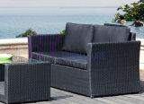sofa imperméable à l'eau extérieur de rotin du jardin 4-Piece du coussin by-435