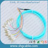 12 tresse optique de fibre de groupe du faisceau LC/Upc-50/125um Om3 millimètres