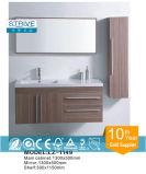 Твердый поверхностный шкаф ванной комнаты тщеты тазика мытья Bamboo
