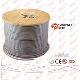 Cable de SFTP (trenza) del CU del Al Foil+ Cat5e LSZH