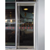 Les portes d'oscillation simples de bâti en aluminium avec Tublar traite Kz055