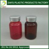 bottiglia di plastica della medicina dell'animale domestico rosso 110ml con la protezione evidente di temperamento