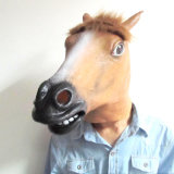 Carnival Mask 높은 쪽으로 유액 Full Head Animal Popular Cosplay 브라운 Horse Fancy Dress