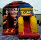 Personalizada barata del vaquero de juguete inflable castillo de la gorila de diapositivas