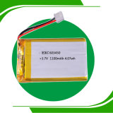 3.7V 1200mAh China Lipo Rechargeable Batterie 603450