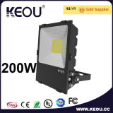 100W LEDの洪水ライト白くか黒いフレーム