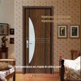 Porta de madeira do projeto elegante do vidro de teste padrão da flor