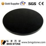 Kundenspezifischer absoluter schwarzer GranitCountertop, Insel-Oberseiten