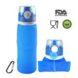 Складывая УПРАВЛЕНИЕ ПО САНИТАРНОМУ НАДЗОРУ ЗА КАЧЕСТВОМ ПИЩЕВЫХ ПРОДУКТОВ И МЕДИКАМЕНТОВ силикона одобрило, BPA свободно, бутылки воды складного складного перемещения портативные