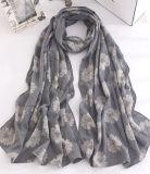 Frauen-Form-Blume gedruckter Baumwollsprung-Schal (YKY1137)