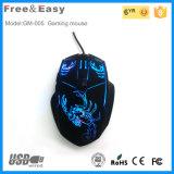 Billig und ergonomische Spiel-Maus der Qualitäts-6D mit bunter LED