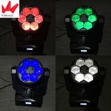 LED 6PCS 15W 꿀벌 눈 RGBW 4in1 광속 이동하는 맨 위 효력 빛