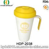 Haltbare umweltfreundliche Plastikkaffeetasse mit Griff (HDP-2038)