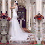 Appliques Tulle Real Photos Mermaid Wedding Dresses (TM-MS001)