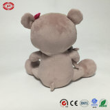 Gato con Embroidery Foot Cute Sitting Plush Soft Stuffed Toy