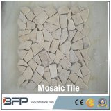 Бежевая каменная мозаика травертина для украшения стены