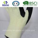 Couper le gant résistant Kevlar de travail de sûreté avec les gants de sûreté enduits par nitriles de Sandy