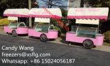 Тележка Popsicles ручки/итальянские вагонетки мороженного Gelato/замораживатели велосипеда витрины глубоко - (CE)